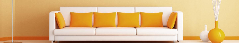 Bright citrus living room